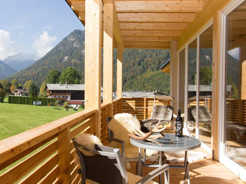 Großzügiger Balkon vom Berghof Loft